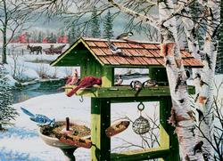 Backyard Banquet Winter Jigsaw Puzzle
