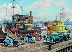 Homer Spit Harbor Cars Jigsaw Puzzle