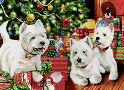 Under the Tree Dogs Jigsaw Puzzle