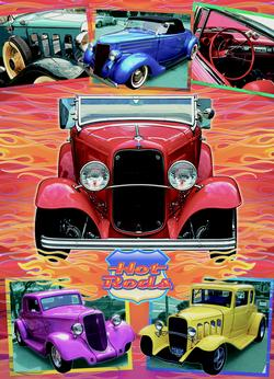 Hot Rods Nostalgic / Retro Jigsaw Puzzle