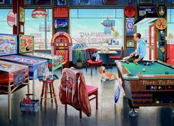 Billiards Restaurant Nostalgic / Retro Jigsaw Puzzle