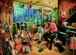 Crossroads Music Store People Jigsaw Puzzle