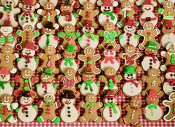 Christmas Bake Sale Pattern / Assortment Jigsaw Puzzle