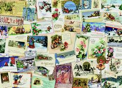 Victorian Greeting Cards - Scratch and Dent Nostalgic / Retro Jigsaw Puzzle