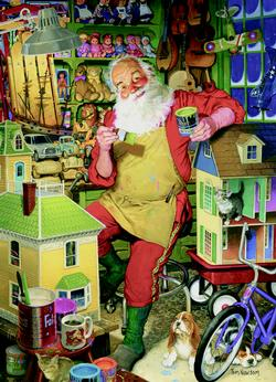 Santa's Workshop Santa Jigsaw Puzzle