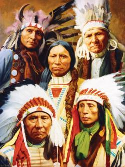 Spiritual Gathering Native American Jigsaw Puzzle