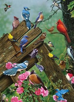 Birds of the Forest Flowers Jigsaw Puzzle
