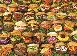 Burgers - Scratch and Dent Food and Drink Jigsaw Puzzle