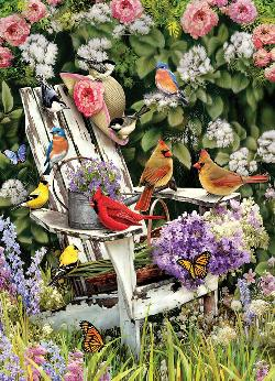 Summer Adirondack Birds Flowers Jigsaw Puzzle