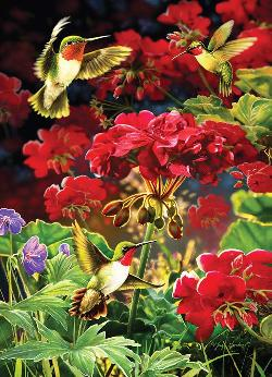 Ruby Geraniums Flowers Jigsaw Puzzle