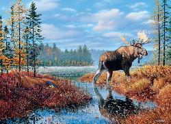 Moose Marsh Wildlife Jigsaw Puzzle