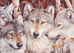 Wolf Crowd Wildlife Jigsaw Puzzle