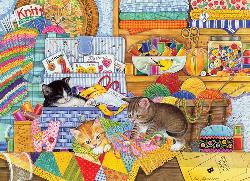 Crafty Kittens Baby Animals Jigsaw Puzzle