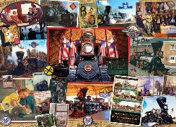 B&O Railroad Collage Jigsaw Puzzle