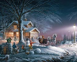 Winter Wonderland (Terry Redlin Collection) Snowman Jigsaw Puzzle