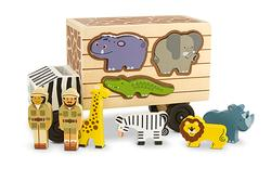 Animal Rescue Shape Sorting Truck Jungle Animals Wooden