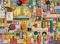 Sewing Notions Collage Jigsaw Puzzle