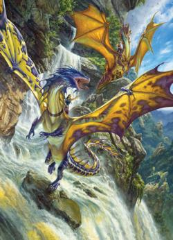 Waterfall Dragons - Scratch and Dent Waterfalls Jigsaw Puzzle