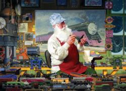 Santa's Hobby Trains Jigsaw Puzzle