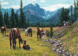 Horse Meadow Mountains Jigsaw Puzzle