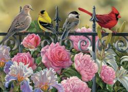 Birds on a Fence Birds Jigsaw Puzzle