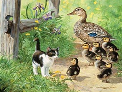 Duck Inspector - Scratch and Dent Garden Jigsaw Puzzle