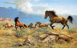 Distant Thunder Horses Jigsaw Puzzle