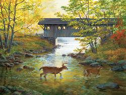Rock Creek Crossing Deer Jigsaw Puzzle