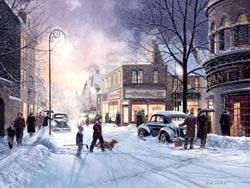 Winter Evening Mother's Day Jigsaw Puzzle