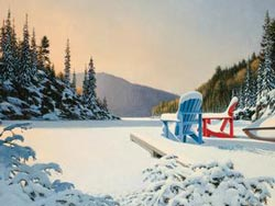 Adirondack Winter Sunrise/Sunset Jigsaw Puzzle