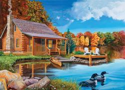 Loon Lake Cottage / Cabin Jigsaw Puzzle