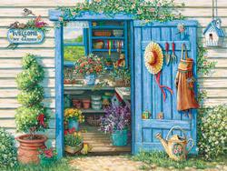 Welcome to My Garden Flowers Jigsaw Puzzle