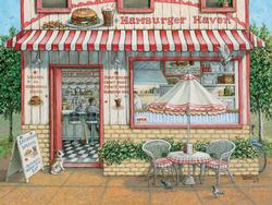 Hamburger Haven Nostalgic / Retro Jigsaw Puzzle