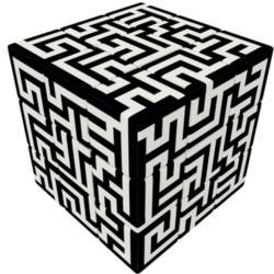 V-CUBE 3 Flat - Maze Brain Teaser