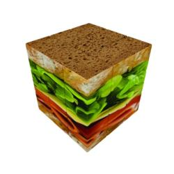 V-CUBE 3 FLAT - SANDWICH Food and Drink Brain Teaser