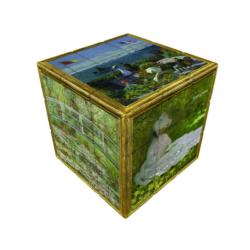 V-CUBE 3 FLAT - MONET Flowers Brain Teaser
