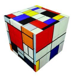V-CUBE 3 FLAT - MONDRIAN Contemporary & Modern Art Brain Teaser