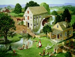 Four Star Mill Folk Art Jigsaw Puzzle