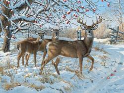 Winter Deer Deer Jigsaw Puzzle