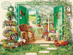 The Blossom Shoppe Spring Jigsaw Puzzle