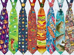 Father's Day Ties Pattern / Assortment Jigsaw Puzzle