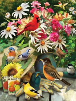 Garden Birds Garden Jigsaw Puzzle