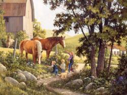 Summer Horses Summer Jigsaw Puzzle