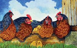 Girl Talk Chickens & Roosters Jigsaw Puzzle