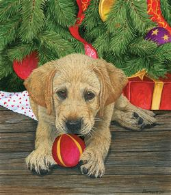Puppy Love Christmas Children's Puzzles