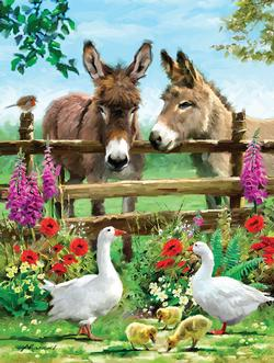 Fenceline Pals - Scratch and Dent Farm Animals Jigsaw Puzzle