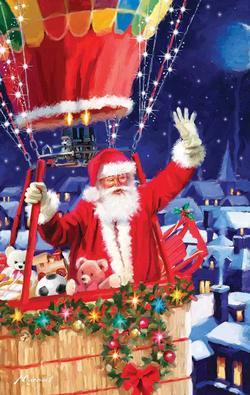 Santa's Balloon Christmas Jigsaw Puzzle