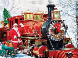 Christmas Express Trains Jigsaw Puzzle