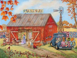 The Quilt Barn Nostalgic / Retro Jigsaw Puzzle