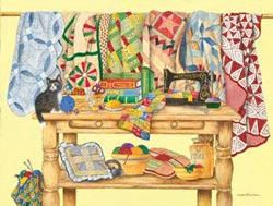 The Quilting Table - Scratch and Dent Quilting & Crafts Jigsaw Puzzle